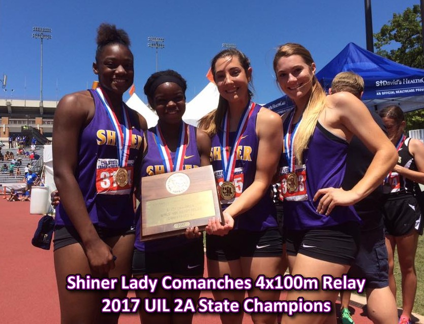 Shiner Lady Comanches - 2017 Class 2A 4x100M Relay State Champions